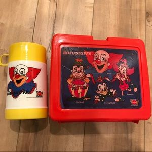Vintage Bozo Clown Lunchbox & Thermos 1988